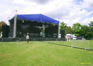 Festival stage outdoor stage hire.